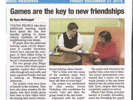 """Games are the key to new friendships!"""