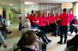 Choir sings at Nazareth House Dublin