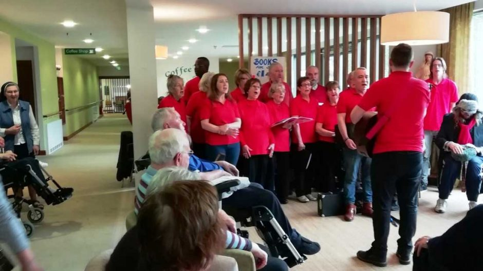 Brother Kevin's Singers visit Nazareth House