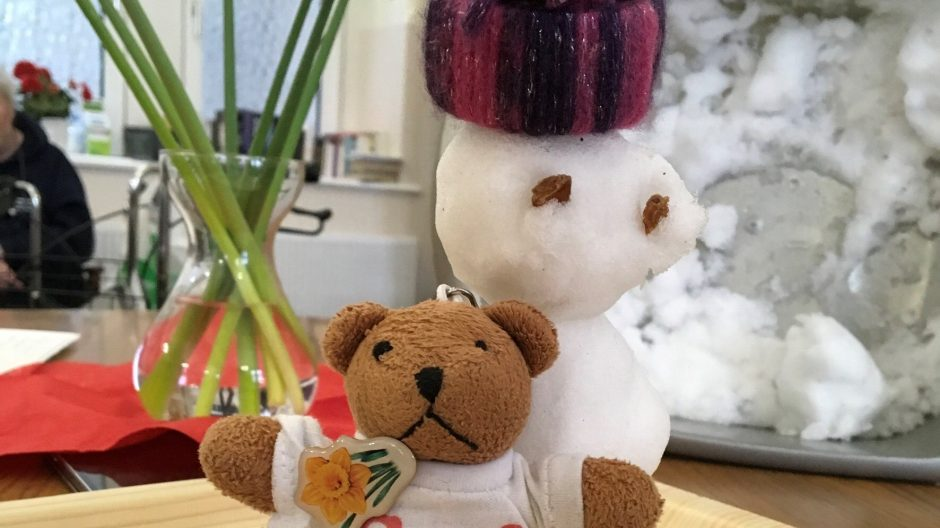 Geri the bear visits Nazareth House Cardiff!