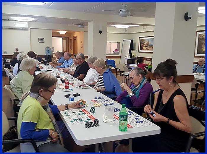 Families playing Bingo