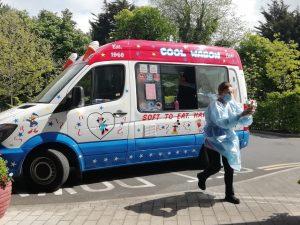 ice cream van visit at Nazareth House Dublintio