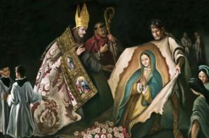 Image of St. Juan Diego and Bishop Zumarraga