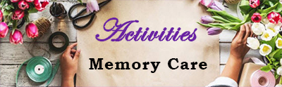 Art work with words Activities Memory Care