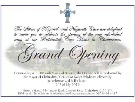St Joseph's Wing Grand Opening