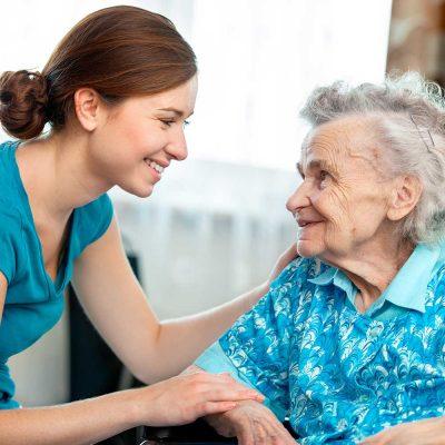 Volunteer with carer