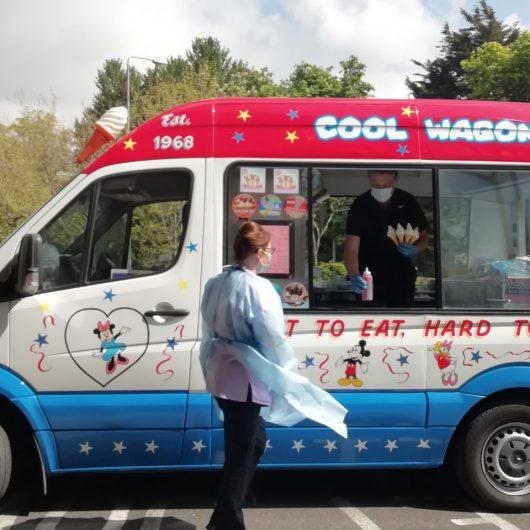 The ice cream van outside Nazareth House Dublin