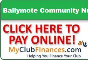 Online lotto logo for Ballymote Community Nursing Unit